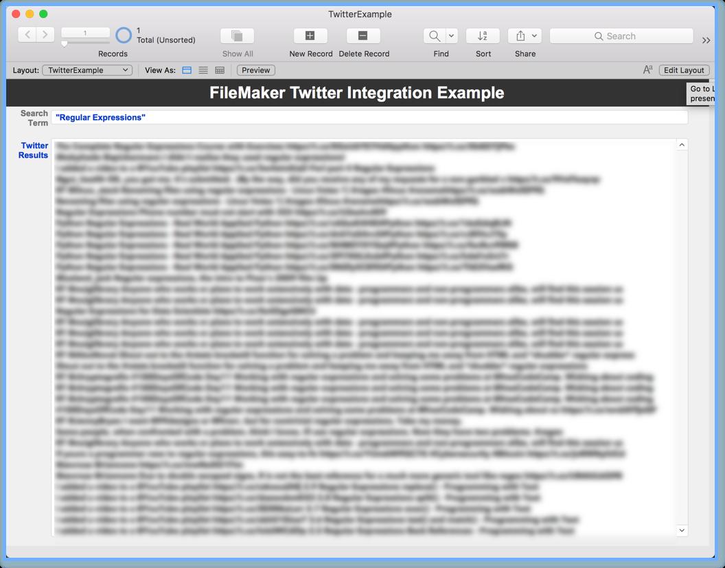 Regular expressions — FileMaker Community