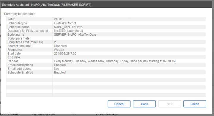 Error 212 on scheduled script — FileMaker Community