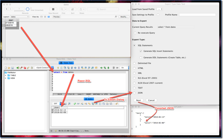 ExecuteSQL to json — FileMaker Community