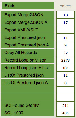 Convert Many FileMaker Records to JSON without Looping