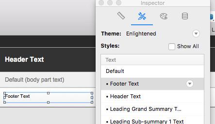 Setting Default Font color as default in filemaker pro 16