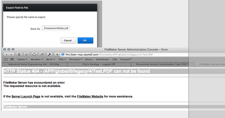Webdirect Export Field Contents does not work  — FileMaker