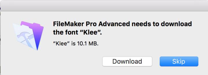 Weird font substitution problem — FileMaker Community