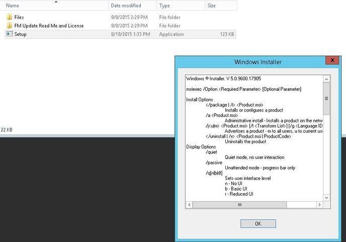 Installing FileMaker Server 14 on Windows Server 2012 R2
