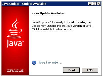 Shall i update my Java version | FileMaker Server 12 Adv