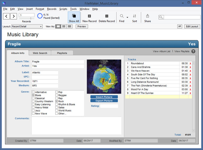 Using FileMaker In A Music Library/Player Solution - Update 1