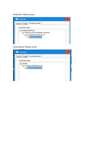Tableau WDC SSL handshake failed  — FileMaker Community