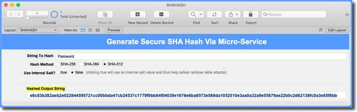 Need Help with Generating Hash — FileMaker Community